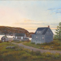 Monhegan Harbor Dusk