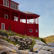 Looking Westward - The Red House - Monhegan